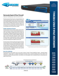 Barracuda Networks Spam & Virus Firewall 300 BSFI300A Leaflet