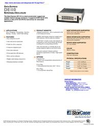 """StorCase DE110 5.25"""" S/P ATA HH Receiving Frame + SATA LP Carrier, Black S21J103 Leaflet"""