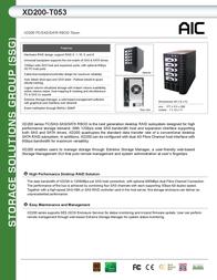 AIC XD200-T053 SSG-DRSA11-0053-A1 Leaflet