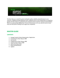 Razer ABYSSUS 1800 User Manual