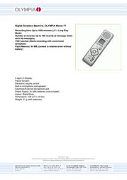 Olympia Memo 77 II 2420 Leaflet