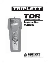 Triplett TDR 3271 User Manual