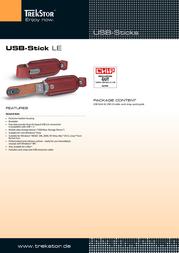 Trekstor USB-Stick LE 1 GB 21360 Leaflet