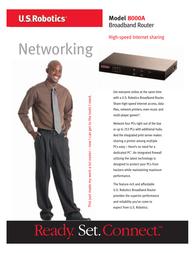 US Robotics Broadband Router plus Print Server and Backup Port USR848000A Leaflet