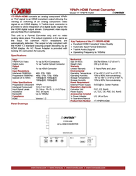 TV One 1T-YBPR-HDMI Leaflet