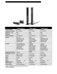 Pure Acoustics Dream Tower 0183864000321 Leaflet