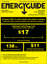 GE GUD27ESSJWW Energy Guide
