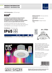 Mueller Licht Müller LichtIndoor panel mounted lamp 57024 Silver-grey, White 57024 Information Guide