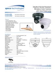 Speco Technologies CVC61HRB Leaflet