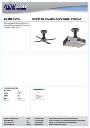 Newstar Products BEAMER-C50,, Black, , 10 kg BEAMER-C50 Data Sheet