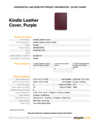 Amazon Leather Cover B0060NJ6FQ Leaflet