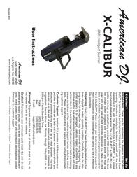 American Audio X-CALIBUR User Manual