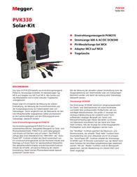 Megger Solar meter, photovoltaic meter 1002-551 Data Sheet