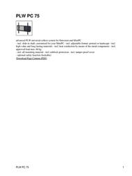 Hagor PLW PC 75 Leaflet