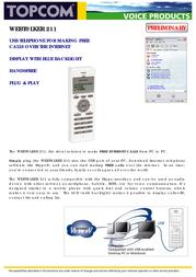 Topcom Webtalker 211 VoIP USB TOP131011 전단
