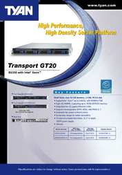 Tyan Transport GT20 (B5350) B5350G20S4H Leaflet
