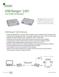 Icron USB Ranger 2201 00-00298 Leaflet