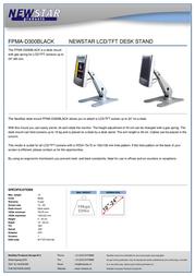 Newstar LCD/TFT desk stand FPMA-D300BLACK Leaflet