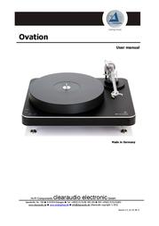 ClearAudio ovation User Manual