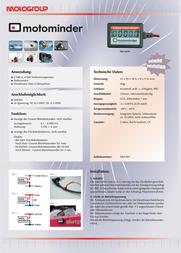 Motogroup Motominder Operating hours timer LCD MM-001 Data Sheet