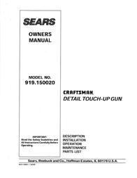 Craftsman 919.15002 Owner's Manual