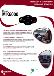 Parrot Bluetooth® Hands-Free Kit with Audio Streaming PF220008AA Leaflet