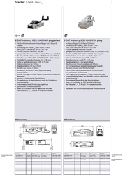 BTR NETCOM E-DAT Industry IP20 RJ45 field plug 1401405012-I Data Sheet
