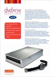 LaCie DT DVD+-RW/DOUBLE LAYER/FIREWIRE/16X F.A. PORSCHE 300775EK Leaflet
