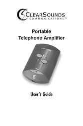 Clearsounds Portable Telephone Amplifier User Manual