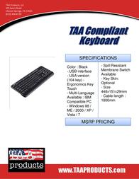 TAA Products TAAK10B Leaflet