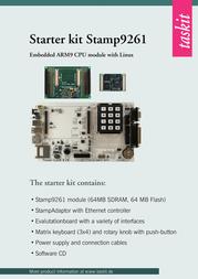 Taskit ARM9 Development kit with Linux Stamp9261 Standard Starterkit Stamp9261 (64F/64R) 542275 Data Sheet