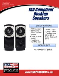 TAA Products TAASP10 Leaflet