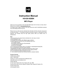 Hip Street HS-636-4GBBK User Manual