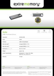 Extrememory Xcite 32GB EXMEUFD332GXCLB Leaflet
