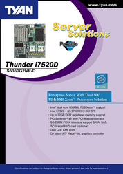 Tyan S5360G2NR Leaflet