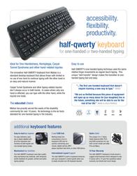 Matias Half-Qwerty Computer Keyboard Leaflet