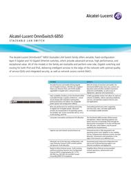 Alcatel-Lucent OS6850-P48L User Manual