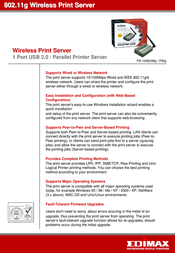 Edimax PS-1206UWG Wireless Print Server PS-1206UWG Leaflet
