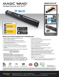 Vupoint Solutions Magic Wand PDSWF-ST44-VP Leaflet