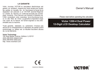 Victor Technology 1200-4 User Manual