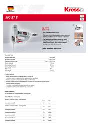 Kress 500 ST E 06033109 Leaflet