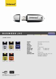 Intenso USB-Disk 16GB Busines Line 3501470 Leaflet