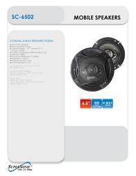 Supersonic SC-6502 Leaflet