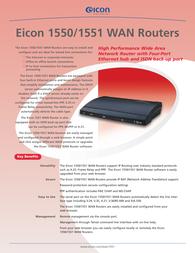 Eicon 1550 WAN Router Europe 310-815 Leaflet
