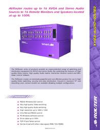 Smart-AVI AVRouter AV08X08S User Manual