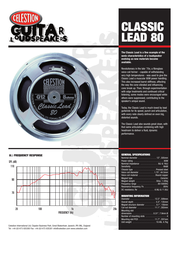Celestion classic lead 80 Specification Guide