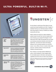 Palm Tungsten C NON 64MB OS5 USB Cradle 824255 Leaflet