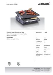 Steba RC 34 63.34.00 Leaflet