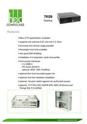 Compucase 7K09 7K09B-FB30U Leaflet