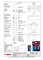 Hycell D battery (rechargeable) NiMH HR20 3000 mAh 1.2 V 2 pc(s) 5035312 Data Sheet